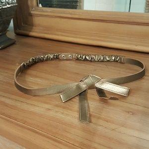 Express Metallic Gold Bow Belt
